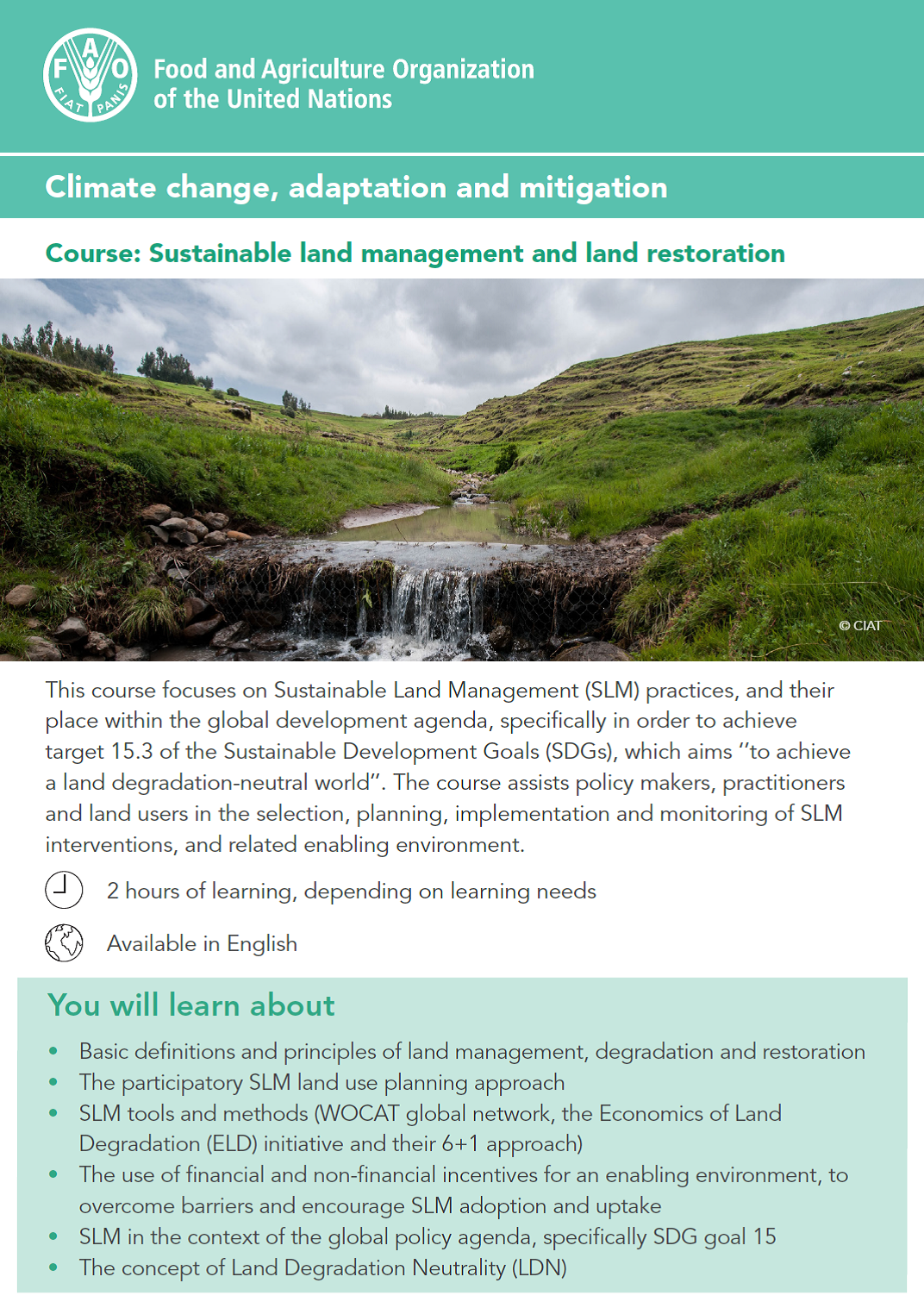 Sustainable land management and land restoration