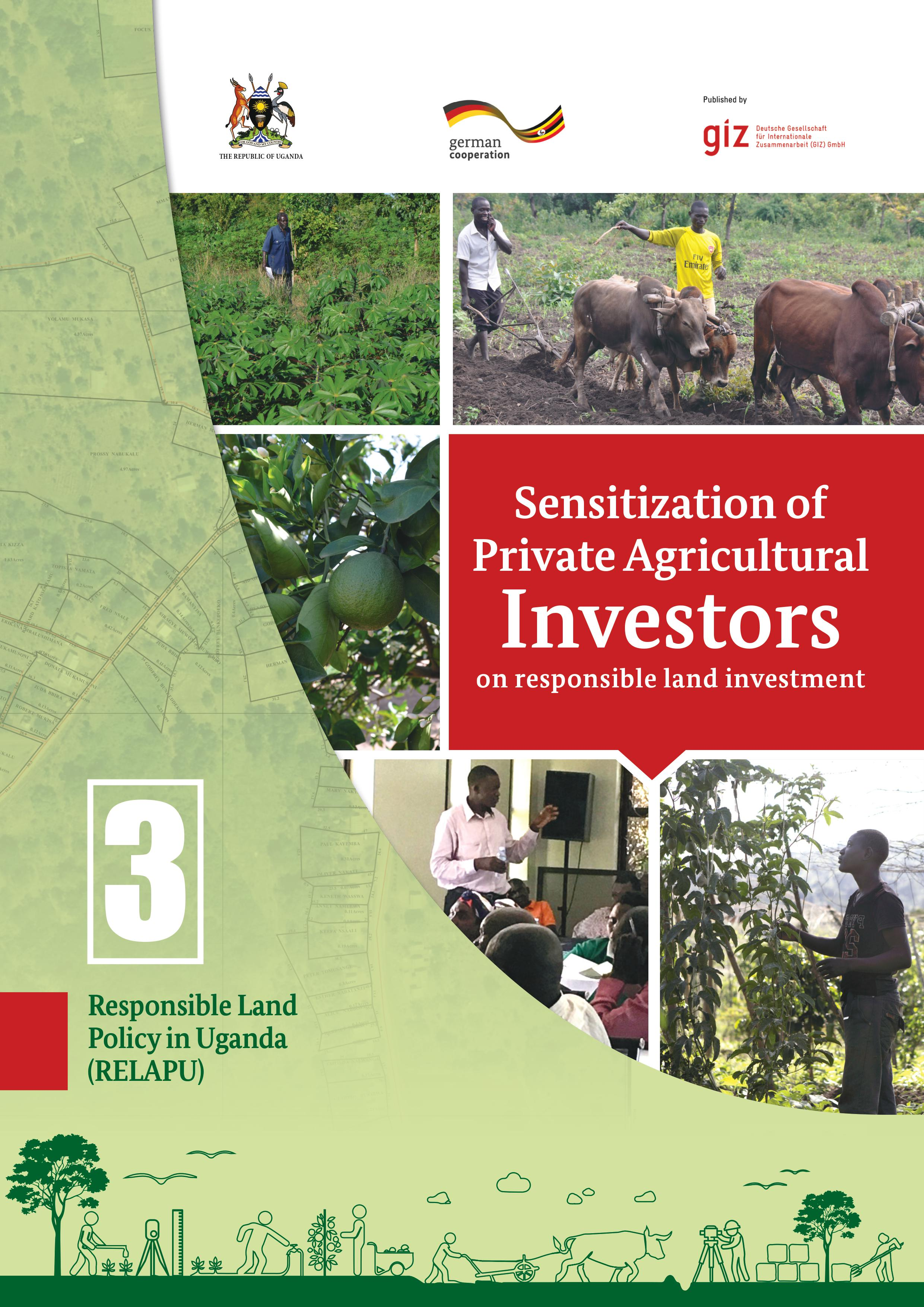 Sensitization of private agricultural investors on responsible land investment in Uganda