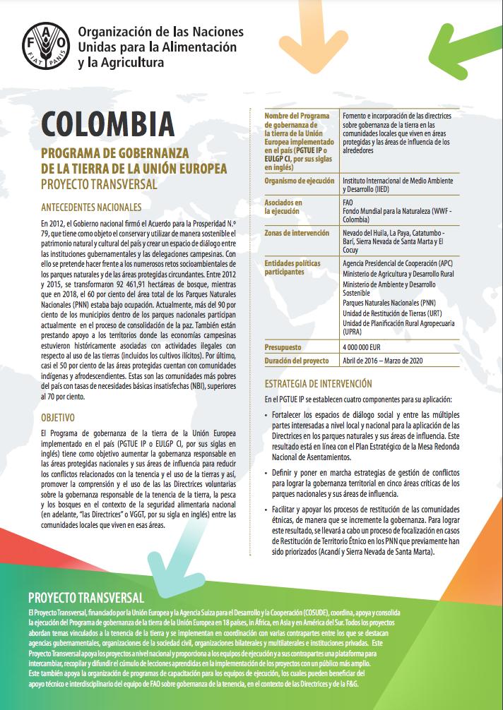 Apoyo transversal de la UE a la implementación del país - Colombia