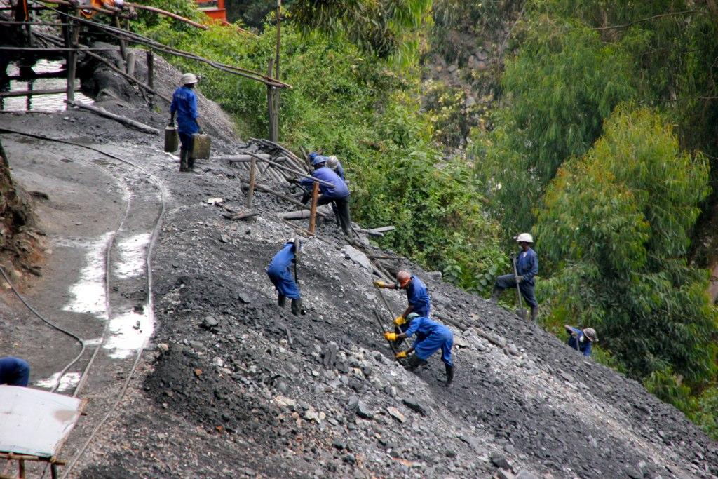 Tungsten surface mining in Rwanda