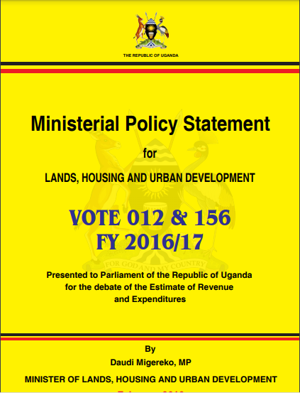 Ministerial Policy Statement