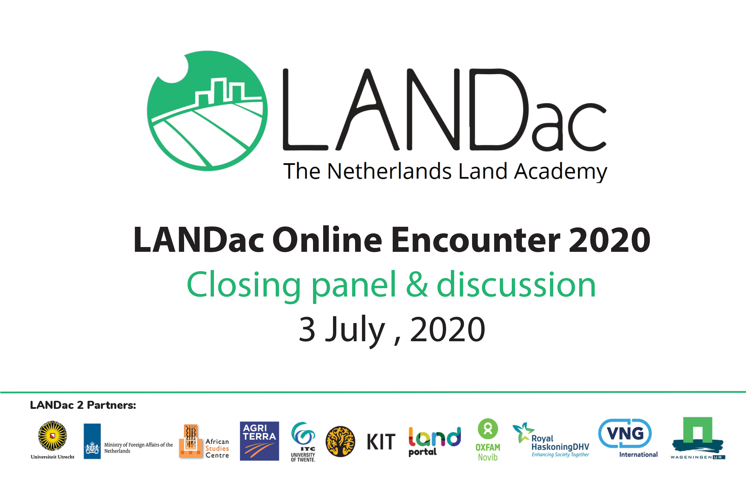 LANDac Online Encounter 2020: Closing panel & discussion