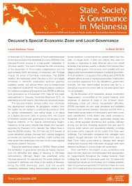 Oecusse's Special Economic Zone and Local Governance