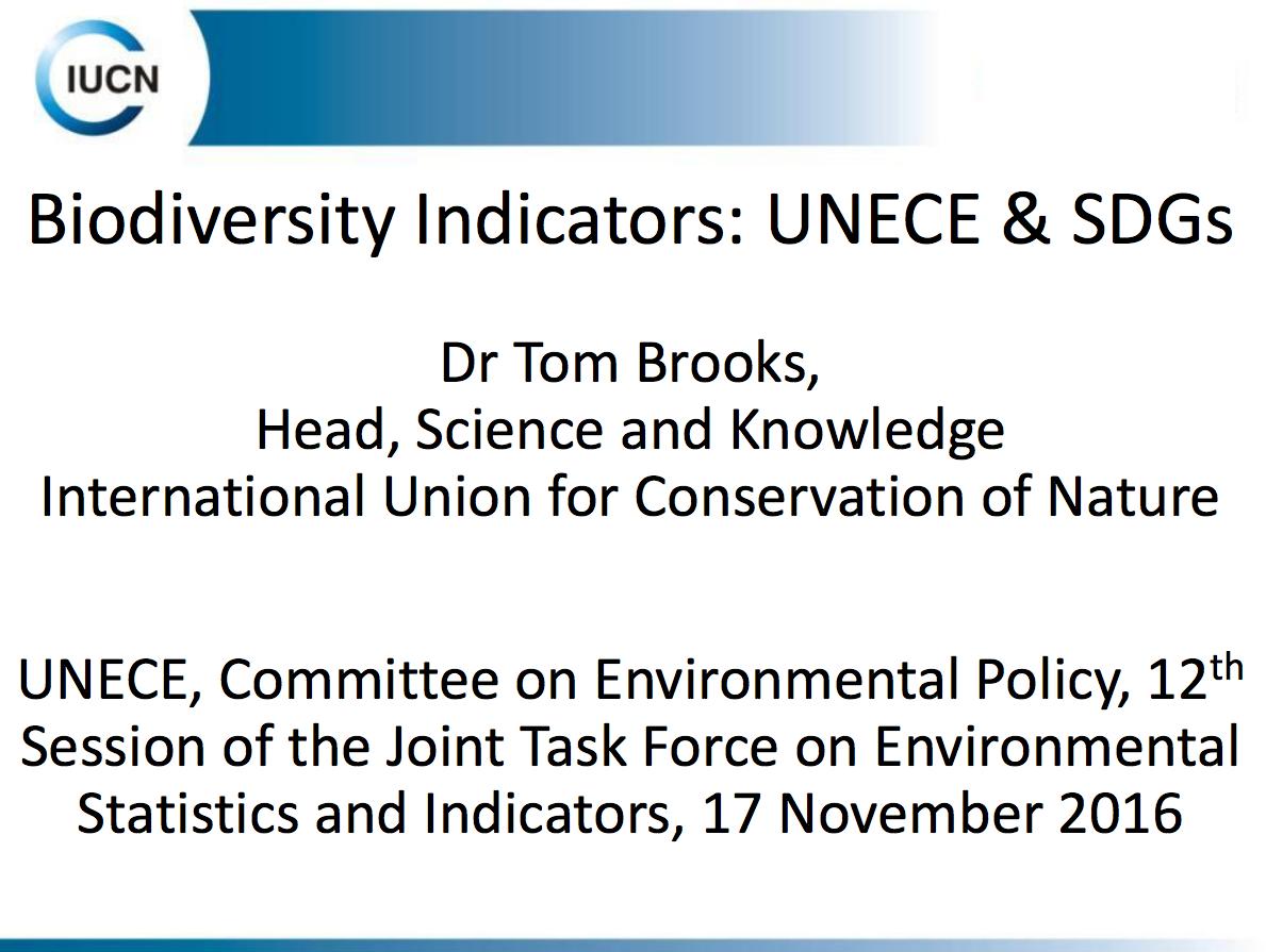 Biodiversity Indicators: UNECE & SDGs cover image