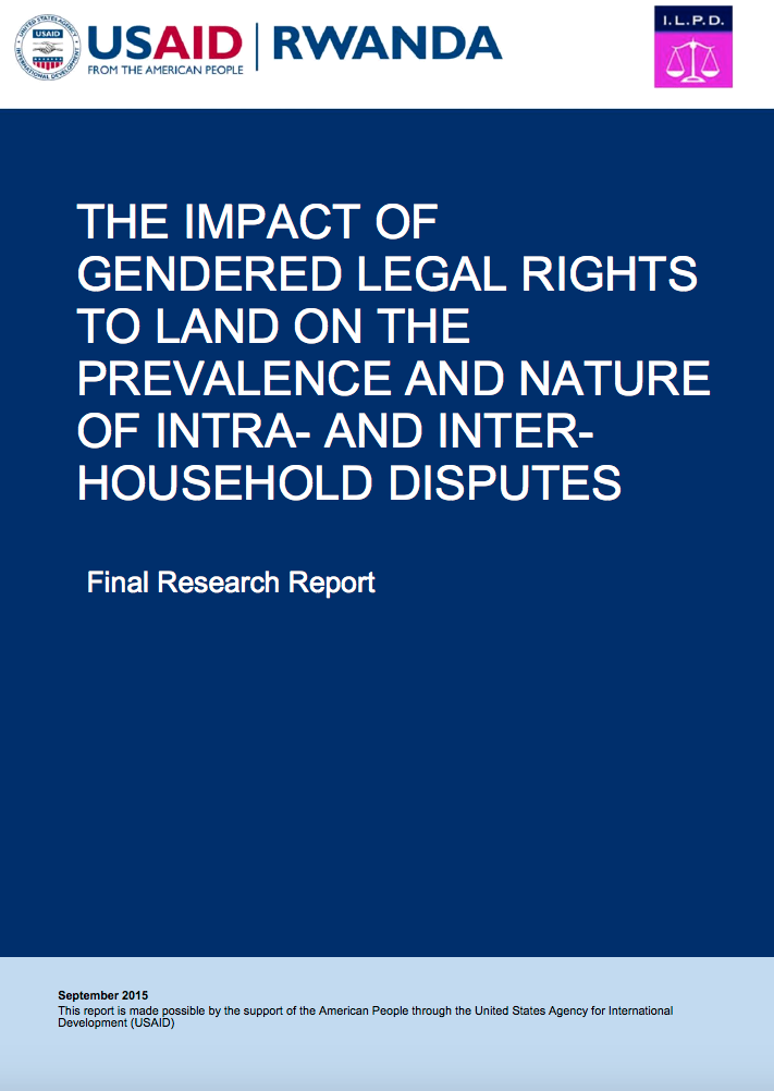 The Impact of Gendered Legal Rights to Land on the Prevalence and Nature of Intra-Household Land Disputes cover image