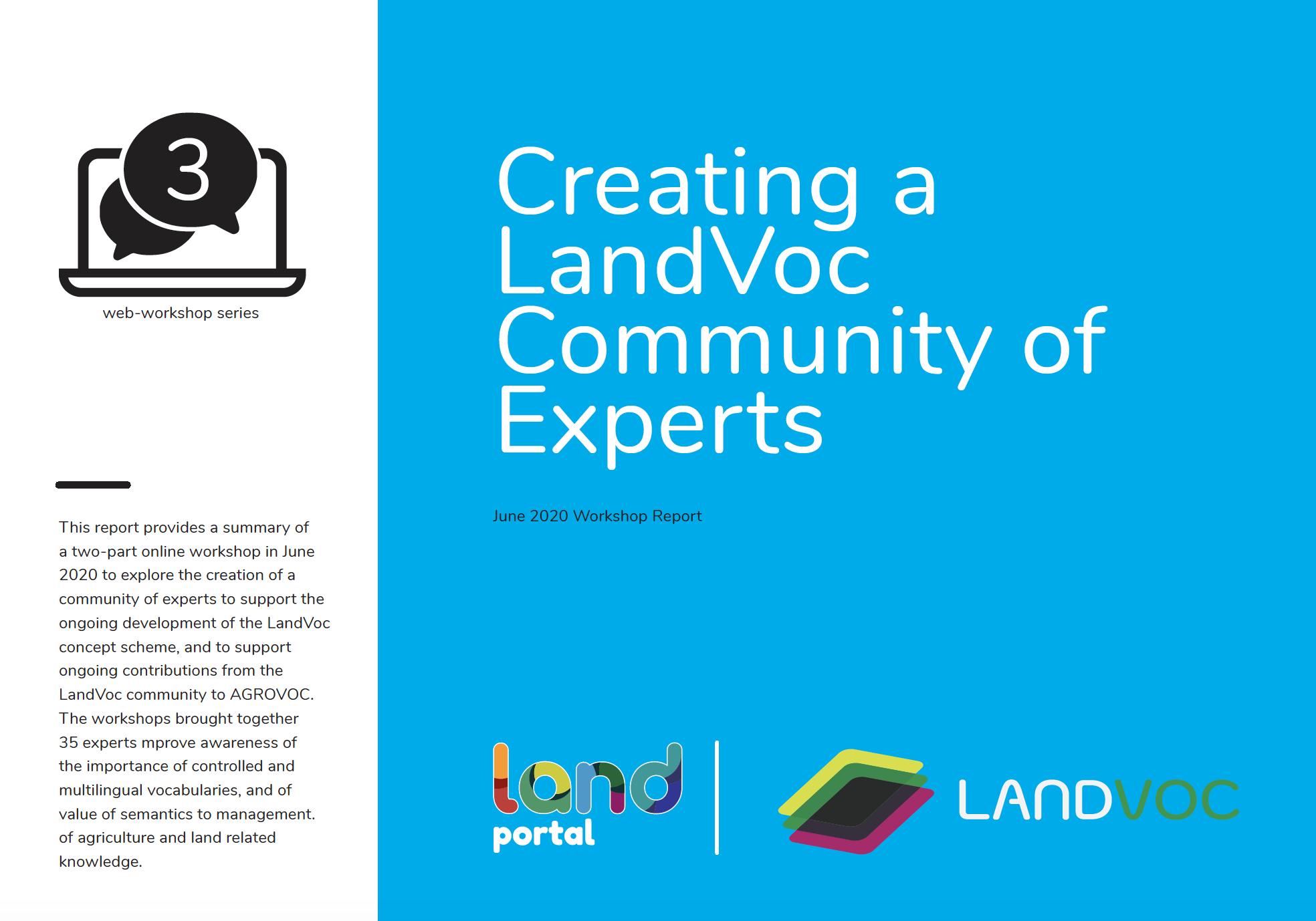LandVoc - Community of Experts Workshop