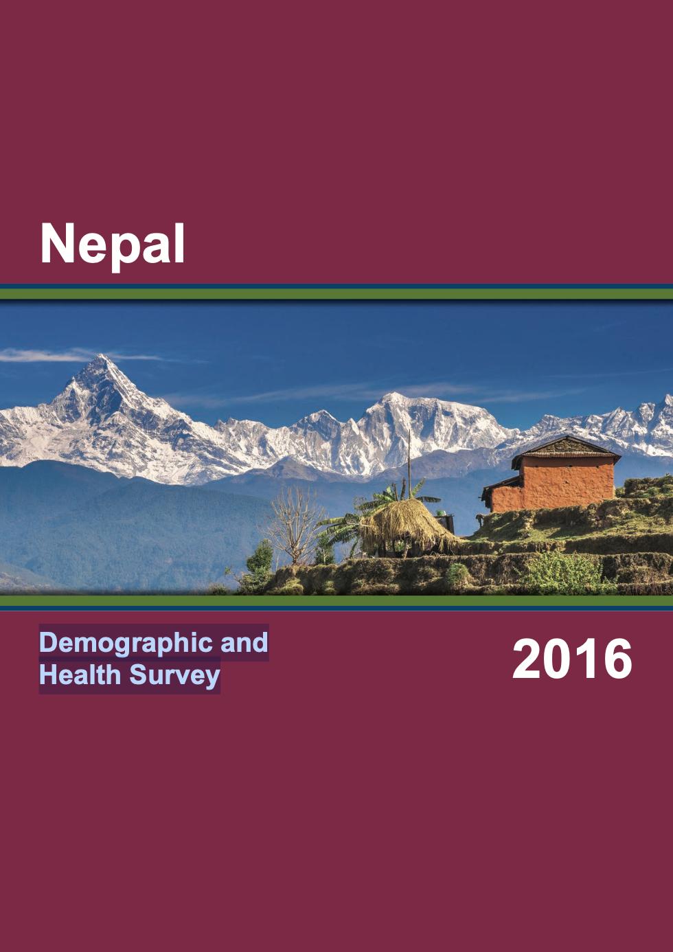 Nepal Demographic and Health Survey 2016