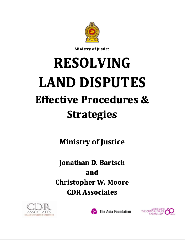 Resolving Land Disputes
