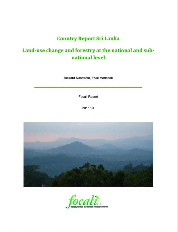 Country Report Sri Lanka