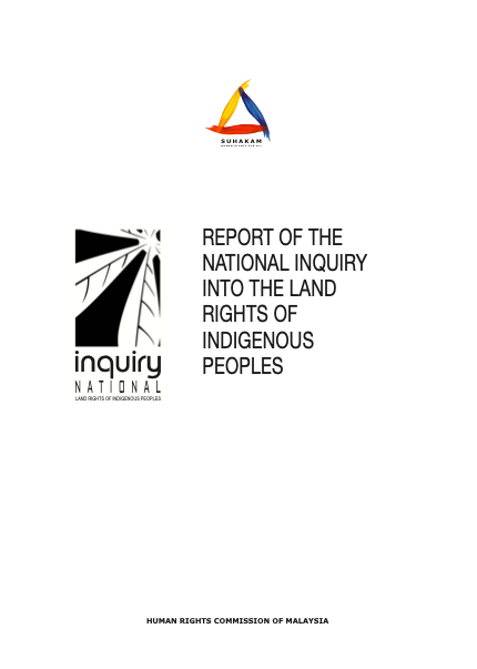 REPORT OF THE NATIONAL INQUIRY INTO THE LAND RIGHTS OF INDIGENOUS PEOPLES