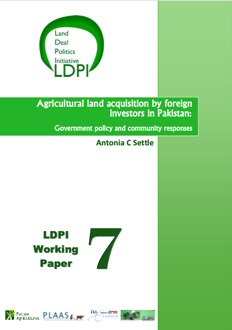 Agricultural land acquisition by foreign investors in Pakistan