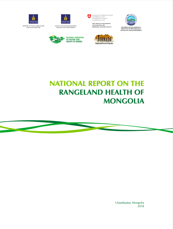 National Report on the Rangeland Health of Mongolia - Second Assessment
