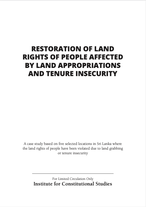 Restoration of Land Rights of People Affected by Land Appropriations and Tenure Insecurity