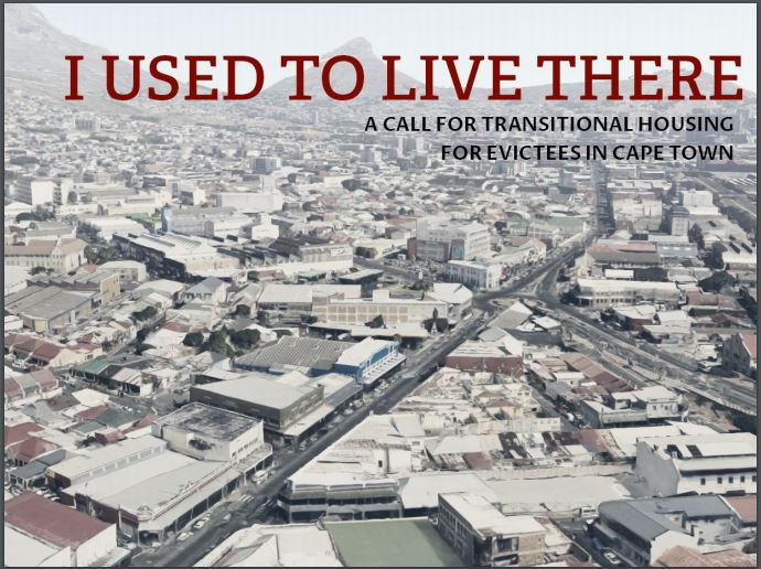A call for transitional housing for evictees in Cape Town
