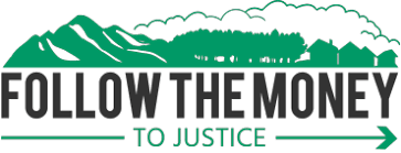 Follow the money to justice logo