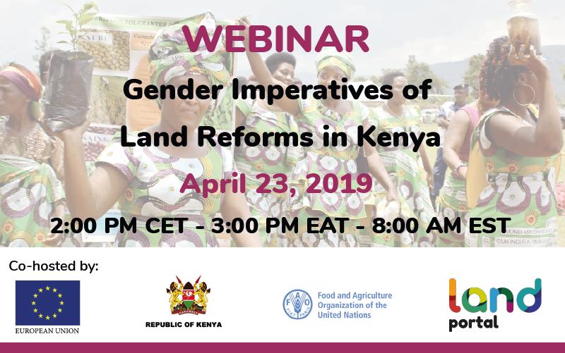 Webinar: The Gender Imperatives of Land Reform in Kenya