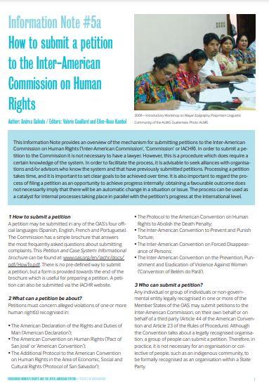indigenous women, information note