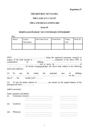 THE LAND REGULATIONS 2004 Form 35