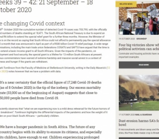 Land News South Africa and Region 21 Sept - 18 Oct 2020