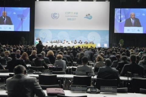 Países africanos integrados nos PALOPs apresentam as suas contribuições na 23ª conferência da ONU sobre o clima  Fotografia: Patrik Stollarz  AFP
