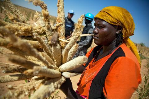 women farm africa