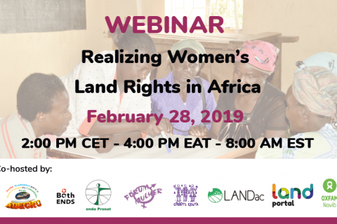 Realizing women's land rights in Africa