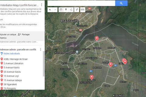 La carte des conflits fonciers en RD Congo