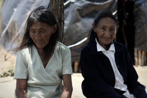 Anciãs indígenas Guarani e Kaiowá. Crédito: Ruy Sposati/Cimi