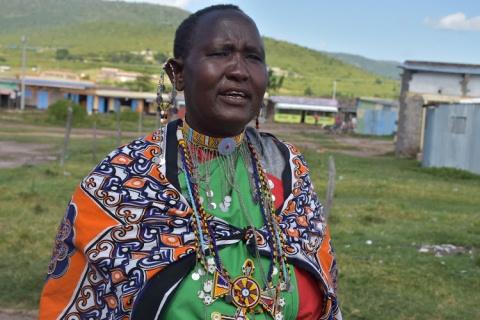 Naishula Conservancy land control board member Nayiare Noonkiba. Image: CHARLENE MALWA