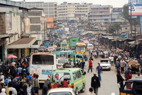 Centro de Nairóbi, no Quênia