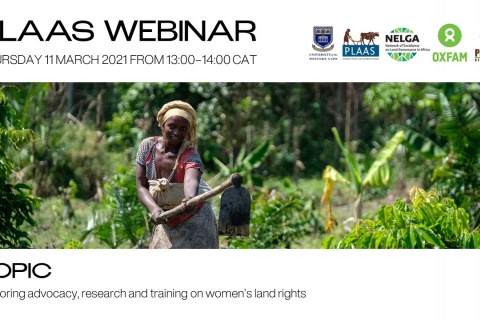 Exploring advocacy, research, and training on women's land rights