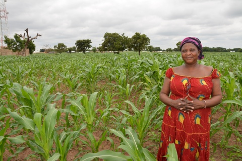 Woman standing in her own field, 2012 - USAID