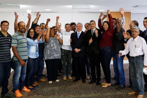 Agricultores familiares participaram da cerimônia de lançamento do Plano Safra junto com o presidente Michel Temer e o secretário da Sead, José Ricardo Roseno