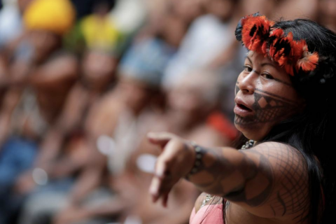 'We are being squeezed', says prize-winning Amazon indigenous activist
