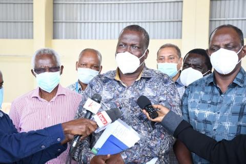 OIL PROGRESS Petroleum and Mining CS John Munyes at the Lamu Port on Thursday. Image: BRIAN OTIENO
