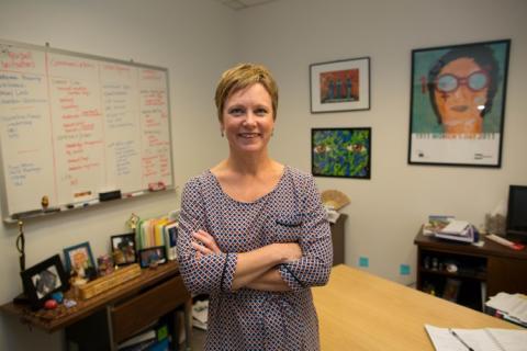 Susan Markham, pictured in her office. / Ellie Van Houtte, USAID
