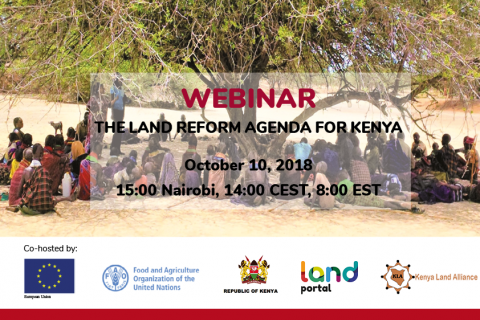 The Land Reform Agenda for Kenya
