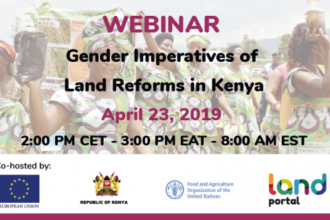 Webinar: The Gender Imperatives of Land Reform in Kenya
