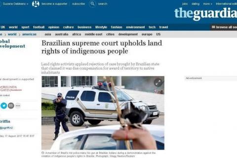Os ativistas alegaram que Temer está usando direitos de terra como barganha para fortalecer seu governo impopular