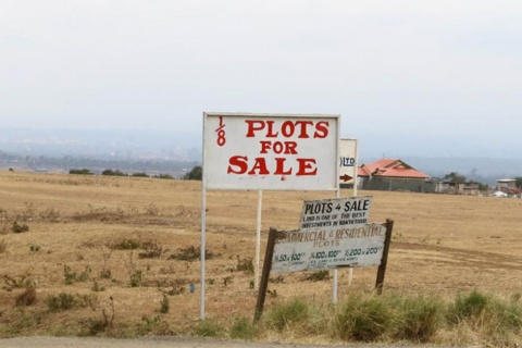 A sign post advertising land for sale in Kieni on July 22, 2015. PHOTO | JOSEPH KANYI