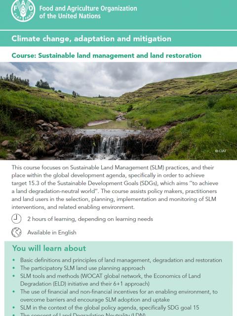 Sustainable land management and land restoration