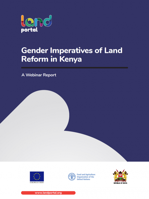 Gender Imperatives of Land Reform in Kenya