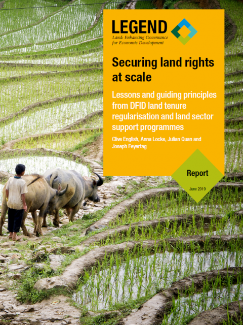 Securing land rights at scale cover