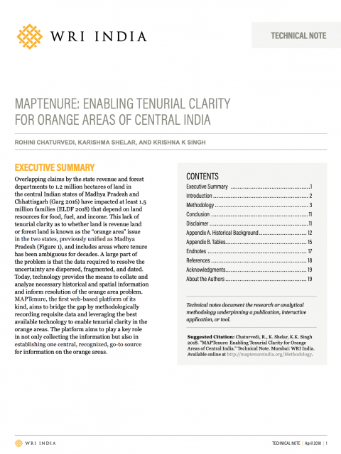 MAPTenure: Enabling Tenurial Clarity for Orange Areas of Central India cover image