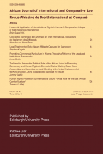 African Journal of International and Comparative Law cover image