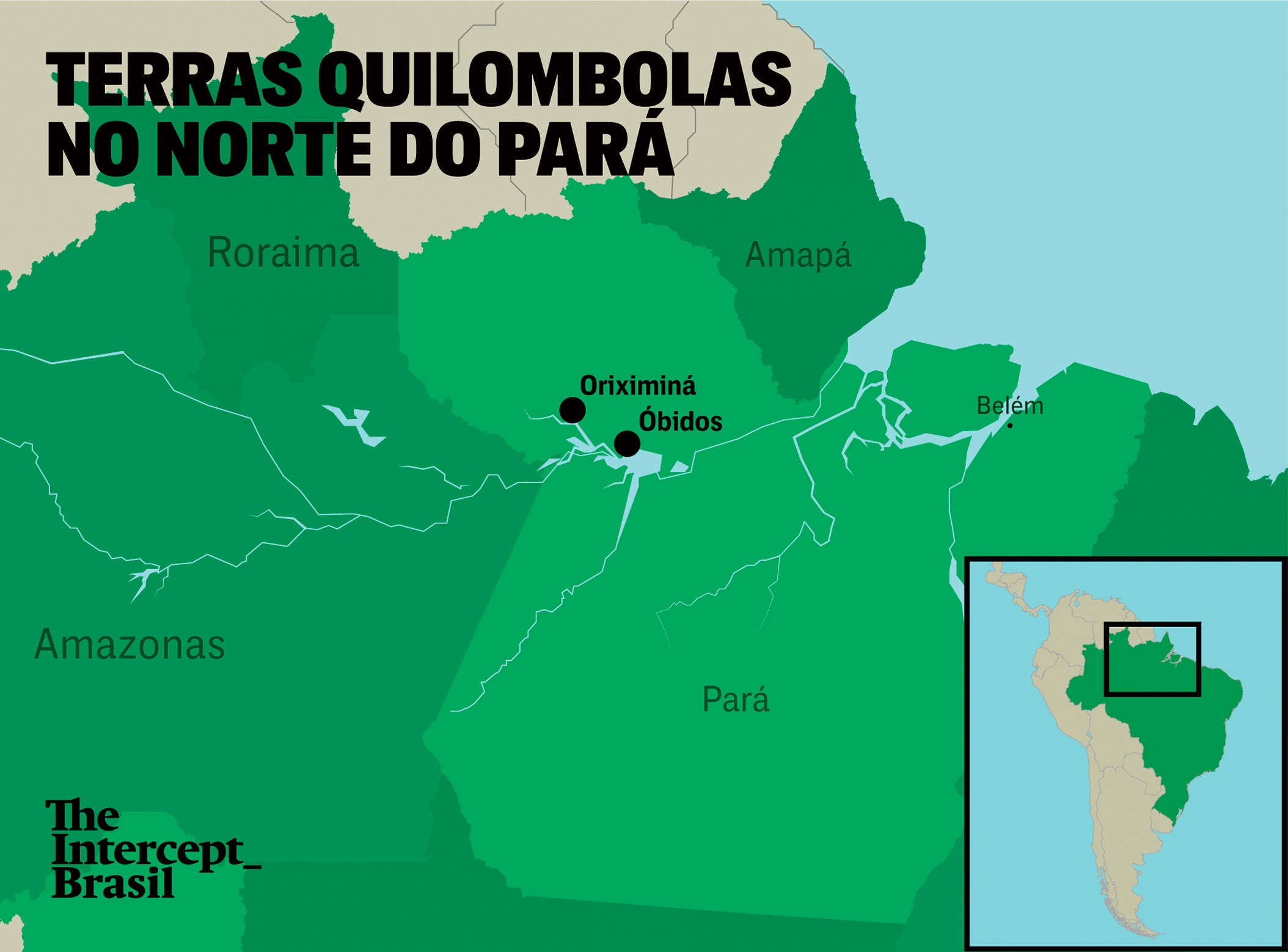 Mapa: Rodrigo Bento/The Intercept Brasil